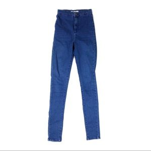 Topshop jeans 26 moto high waist skinny pants navy